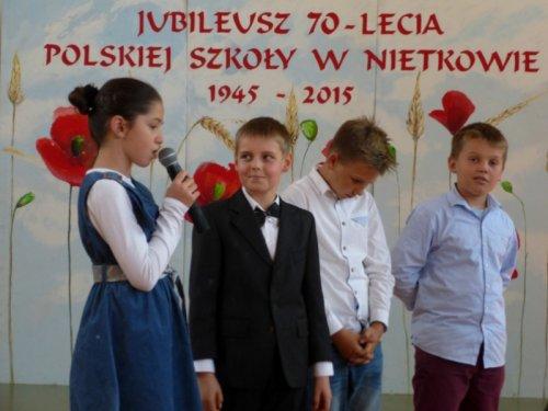 Jubileusz 70-lecia Szkoły Podstawowej wNietkowie